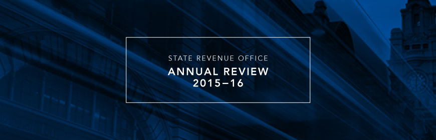 State Revenue Office Annual Review 2015-16