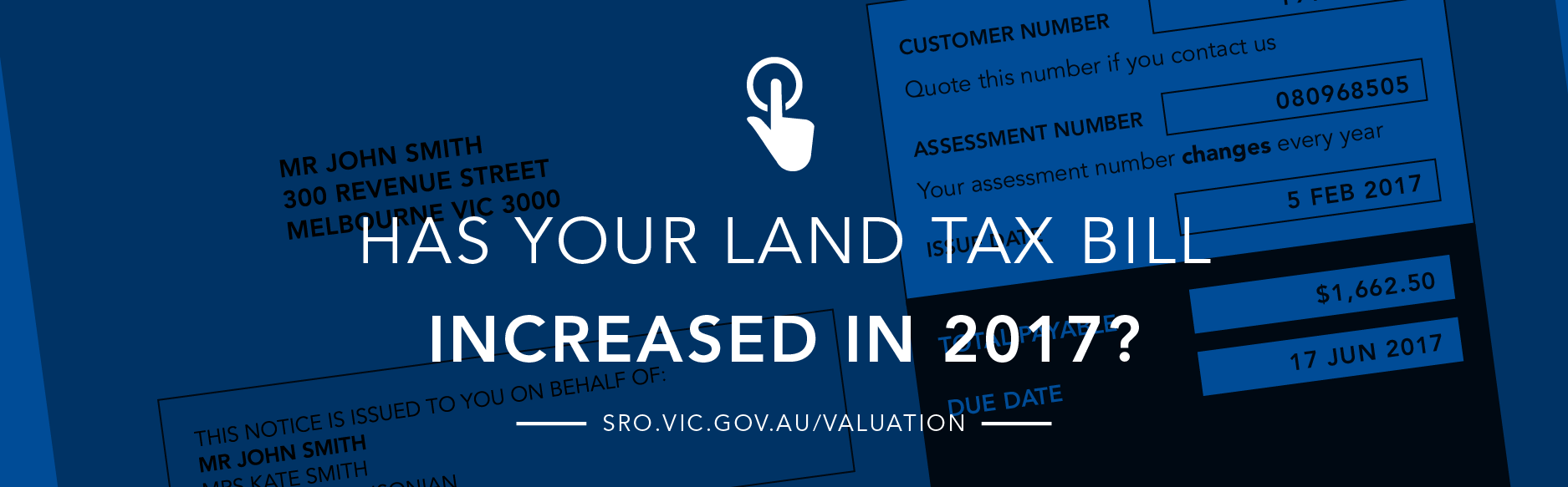 Has your land tax bill increased this year?