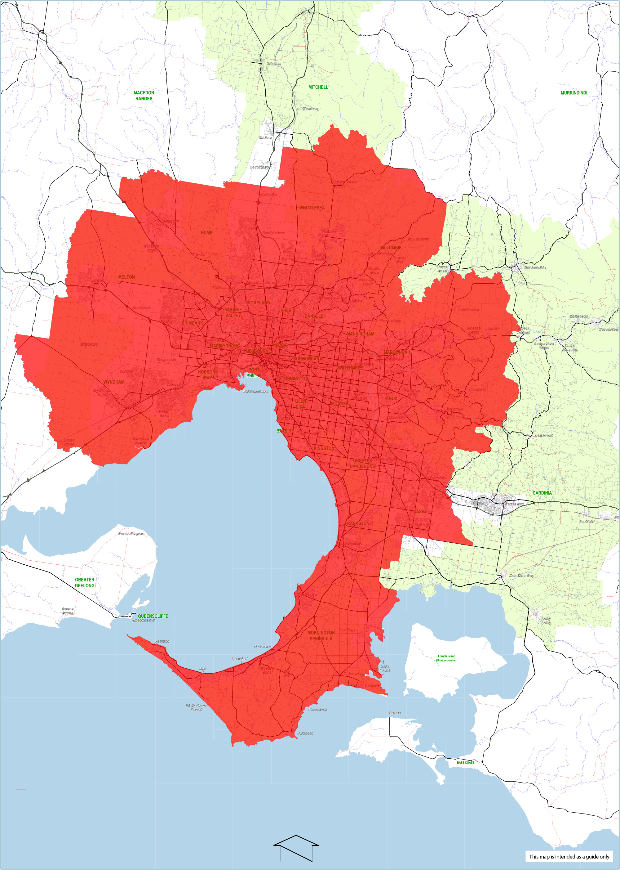 Greater Melbourne Map And Urban Zones State Revenue Office - Urban grown us map