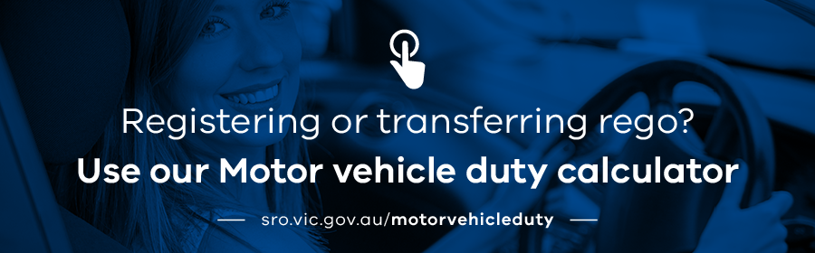 Motor vehicle duty calculator | State Revenue Office